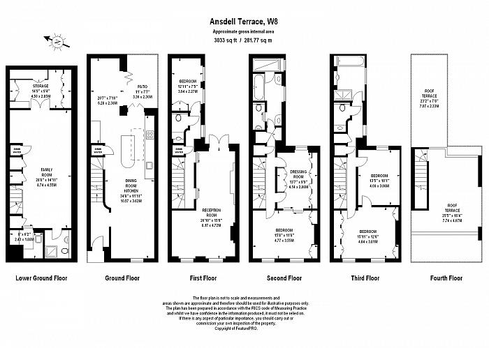 Ansdell Terrace, Kensington, W8 Floorplan