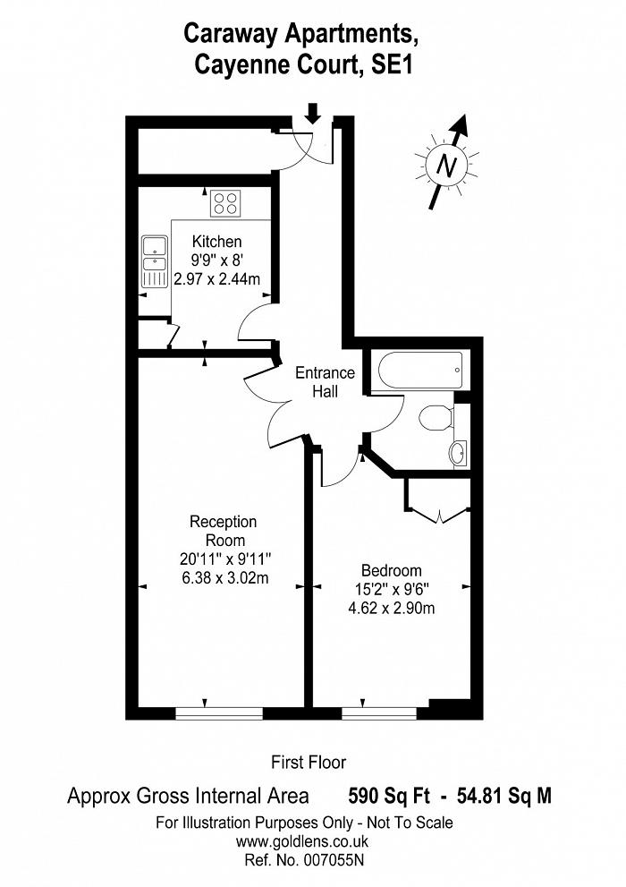 Caraway Apartments, 2 Cayenne Court, SE1 Floorplan