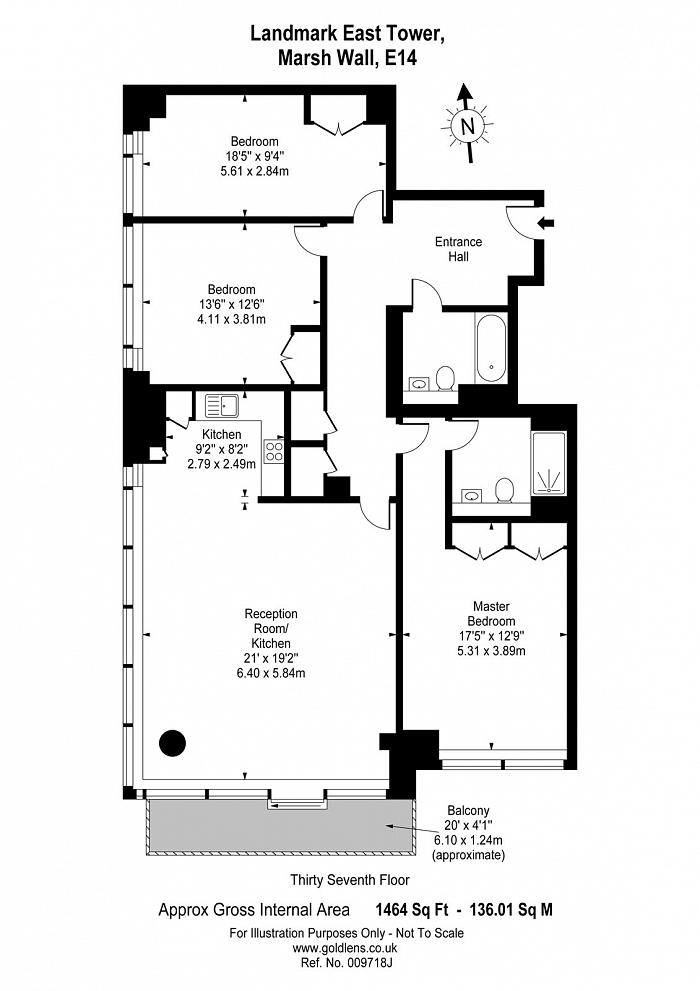 Landmark East Tower, 24 Marsh Wall, E14 Floorplan