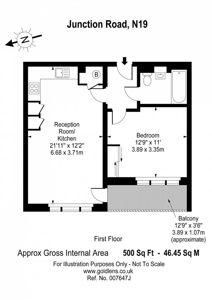 Junction Road, Tufnell Park, N19 Floorplan