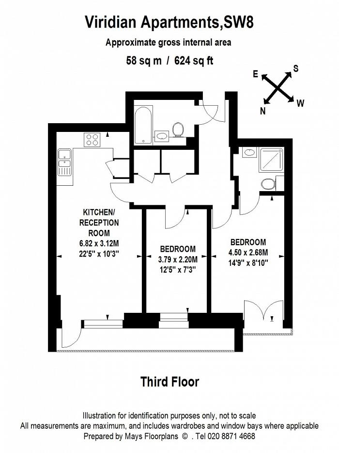 Viridian Apartments, 75 Battersea Park Road, SW8 Floorplan