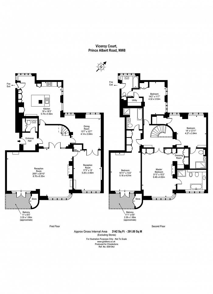 Viceroy Court, 58-74 Prince Albert Road, NW8 Floorplan