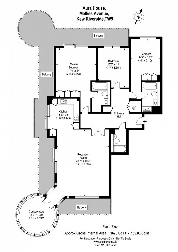 Melliss Avenue, Kew, TW9 Floorplan
