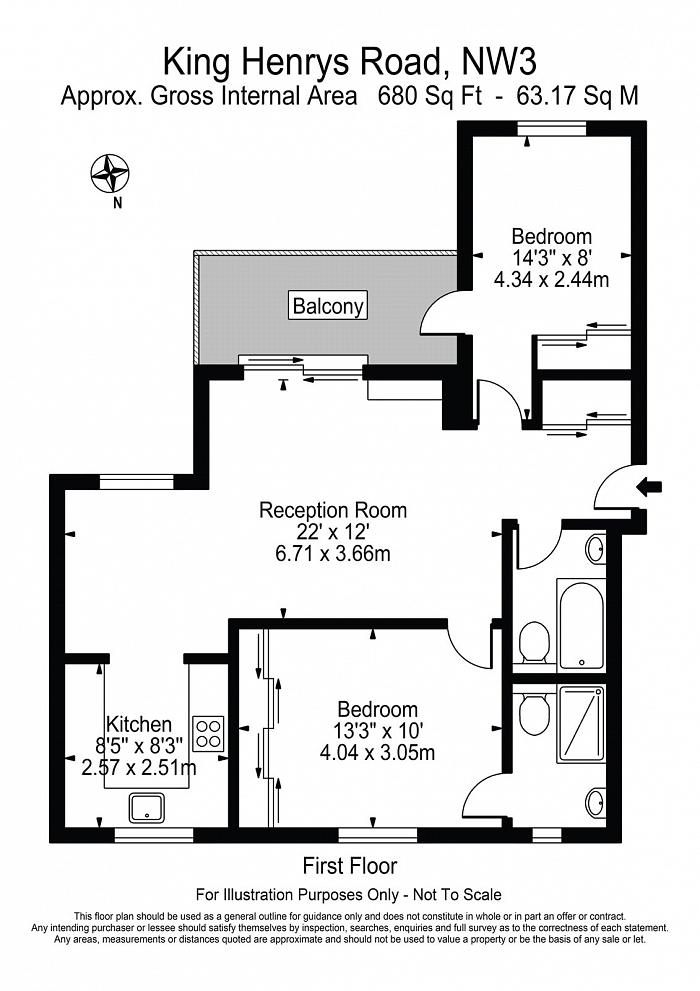 Emerald House, 1c King Henrys Road, NW3 Floorplan