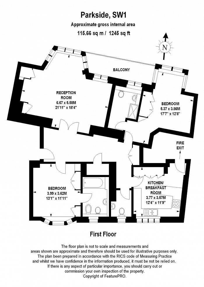 Parkside, Knightsbridge, SW1X Floorplan