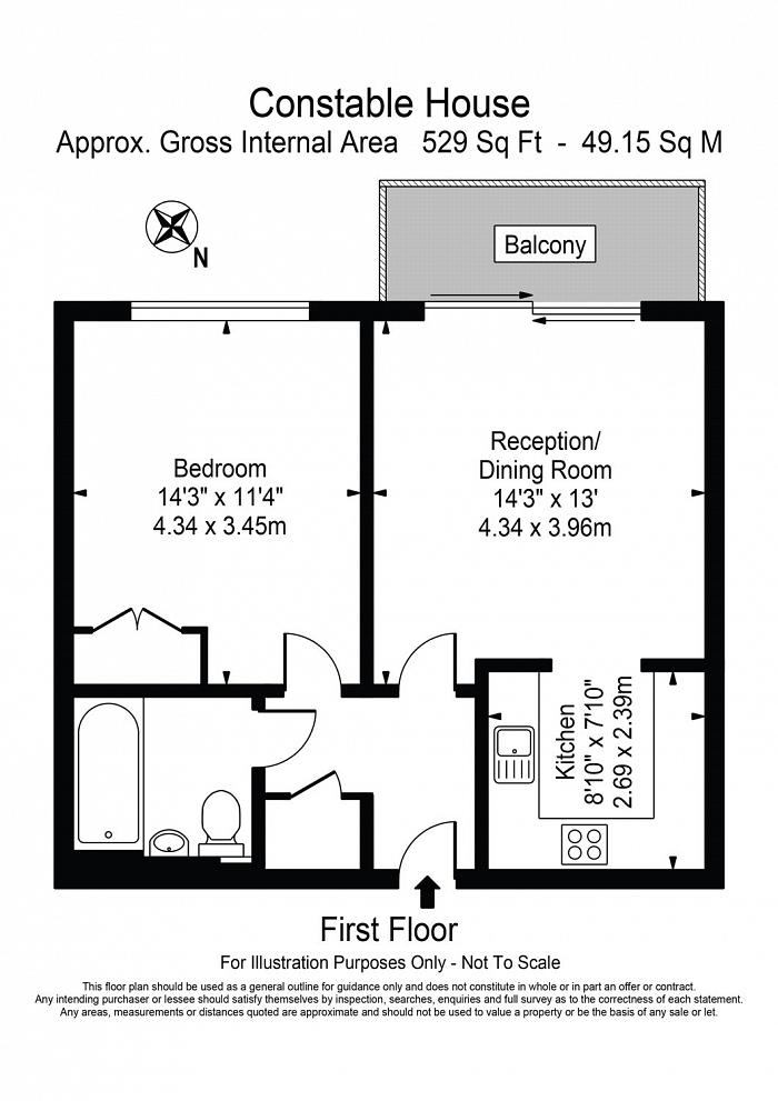 Constable House, Cassilis Road, E14 Floorplan