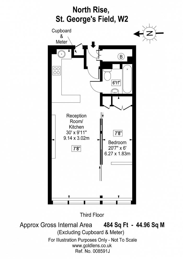 North Rise, St. Georges Fields, W2 Floorplan