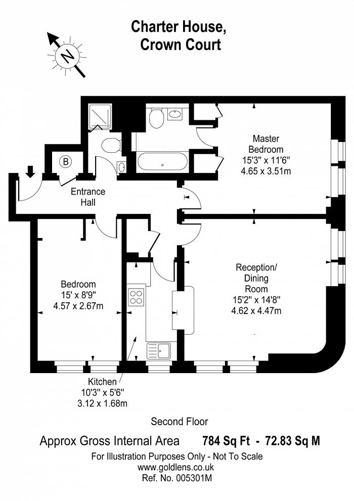 Charter House, Crown Court, WC2B Floorplan