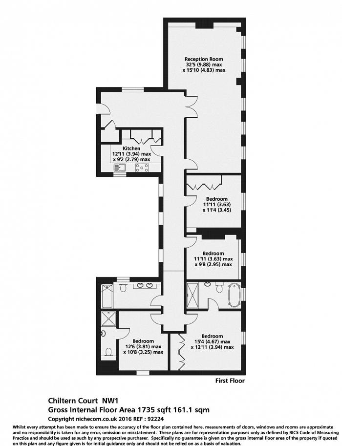 Chiltern Court, Baker Street, NW1 Floorplan