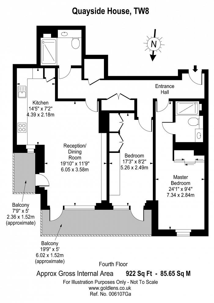 Kew Bridge Road, Brentford, TW8 Floorplan