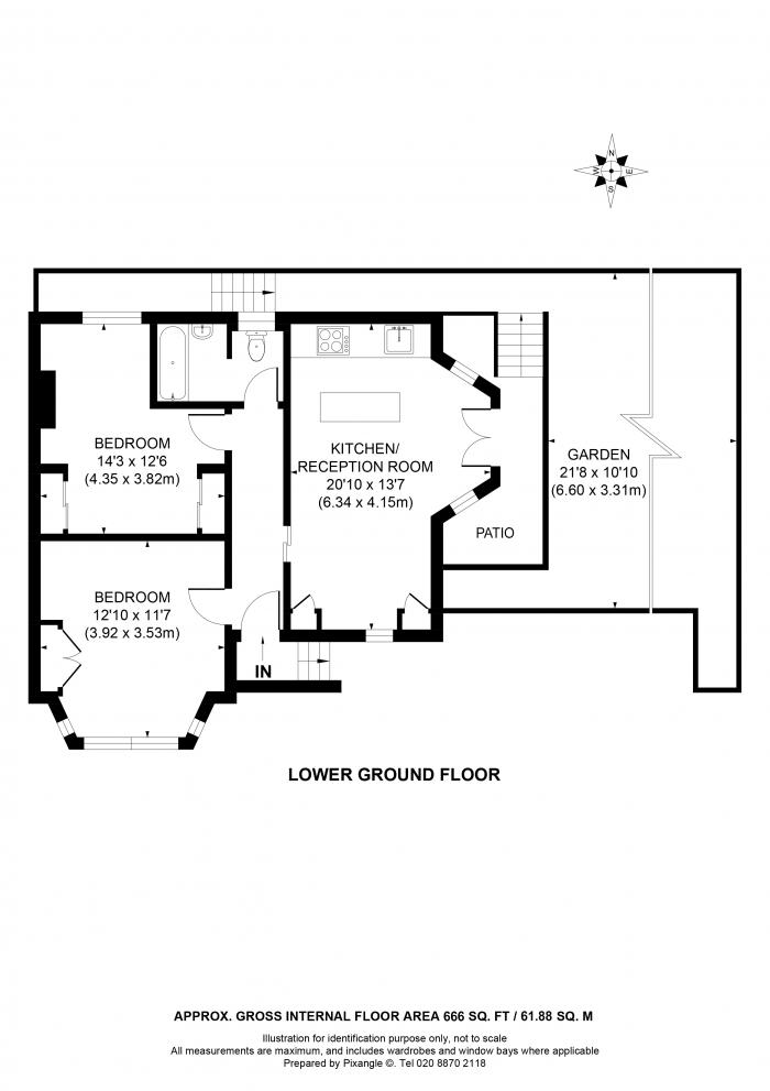 Redholme, The Hermitage, TW10 Floorplan