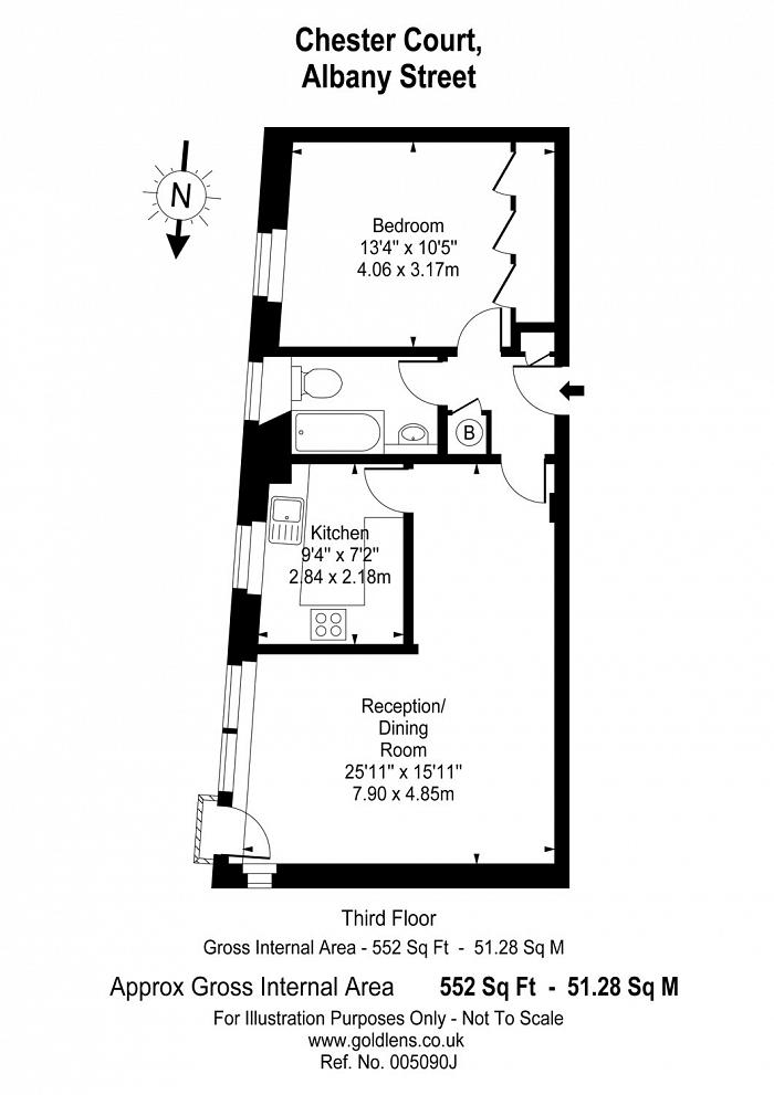 Chester Court, Albany Street, NW1 Floorplan