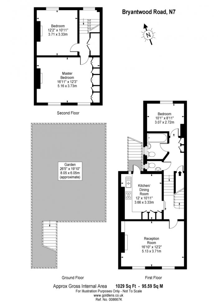 Bryantwood Road, Hollway, N7 Floorplan