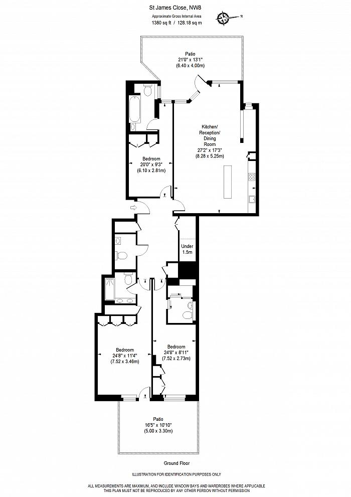 Park St. James, St. James's Terrace, NW8 Floorplan