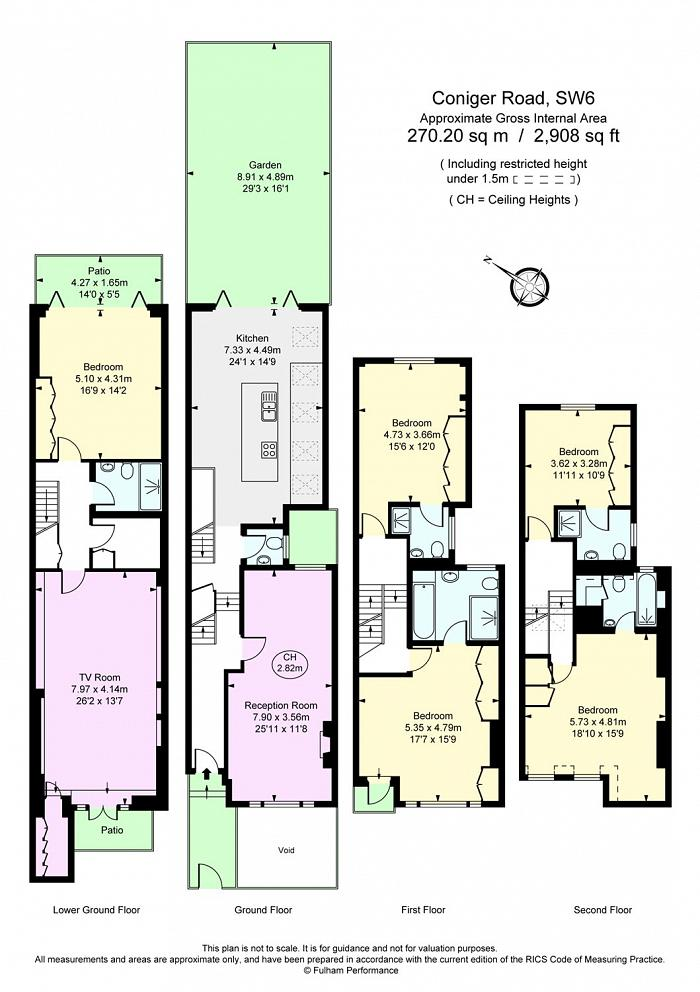 Coniger Road, Parsons Green, SW6 Floorplan