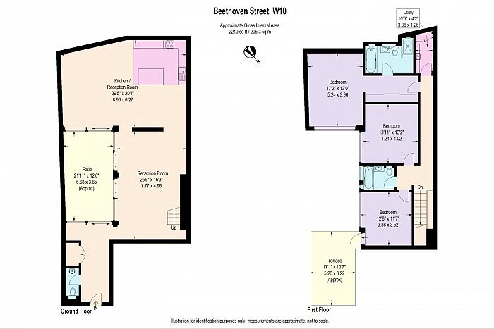 Beethoven Street, Queens Park, W10 Floorplan
