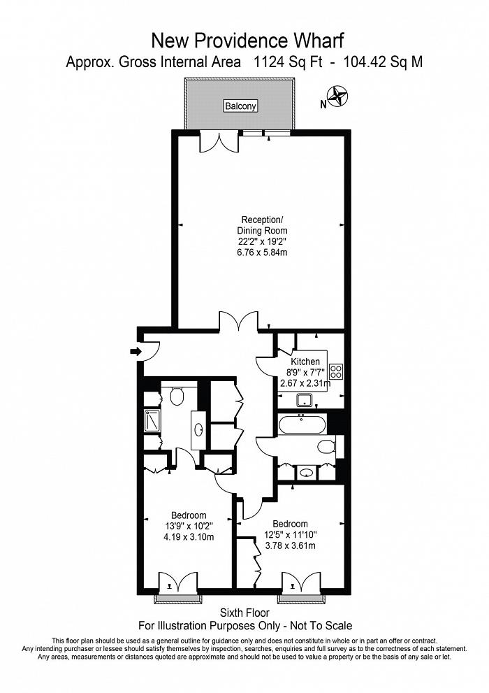 New Providence Wharf, 1 Fairmont Avenue, E14 Floorplan