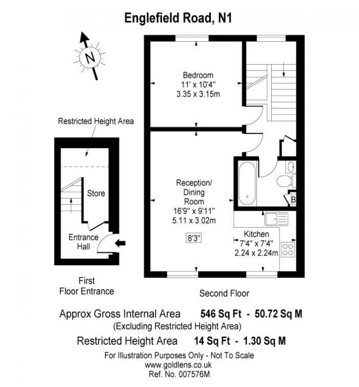 Englefield Road, Islington, N1 Floorplan