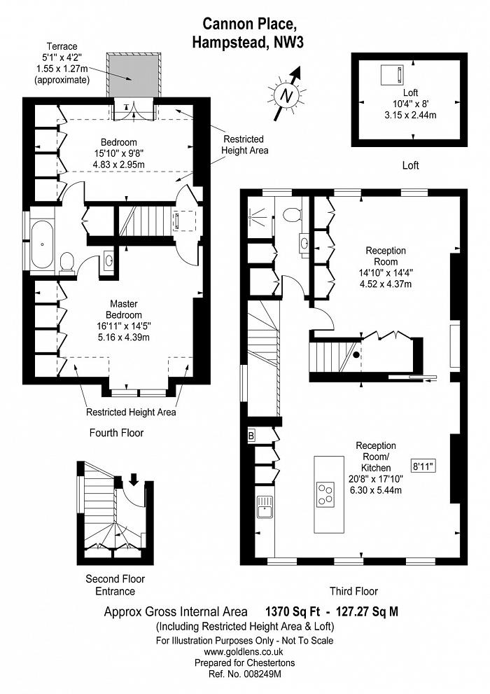 Cannon Place, Hampstead, NW3 Floorplan