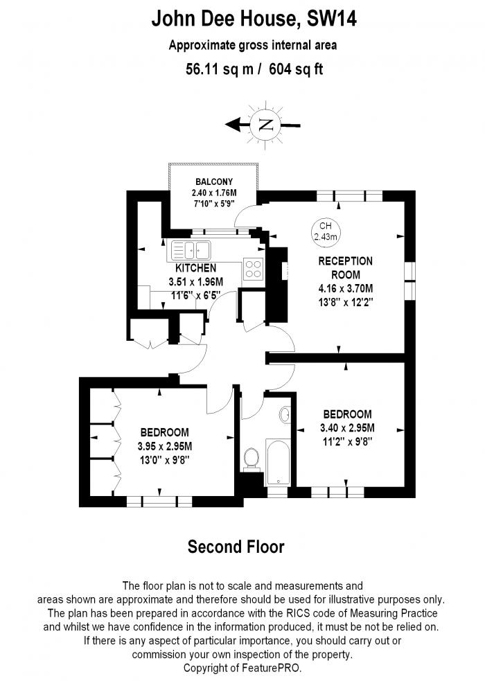 John Dee House, Mortlake High Street, SW14 Floorplan
