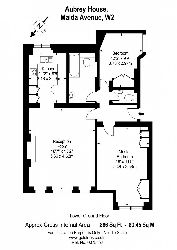 Aubrey House, 7 Maida Avenue, W2 Floorplan