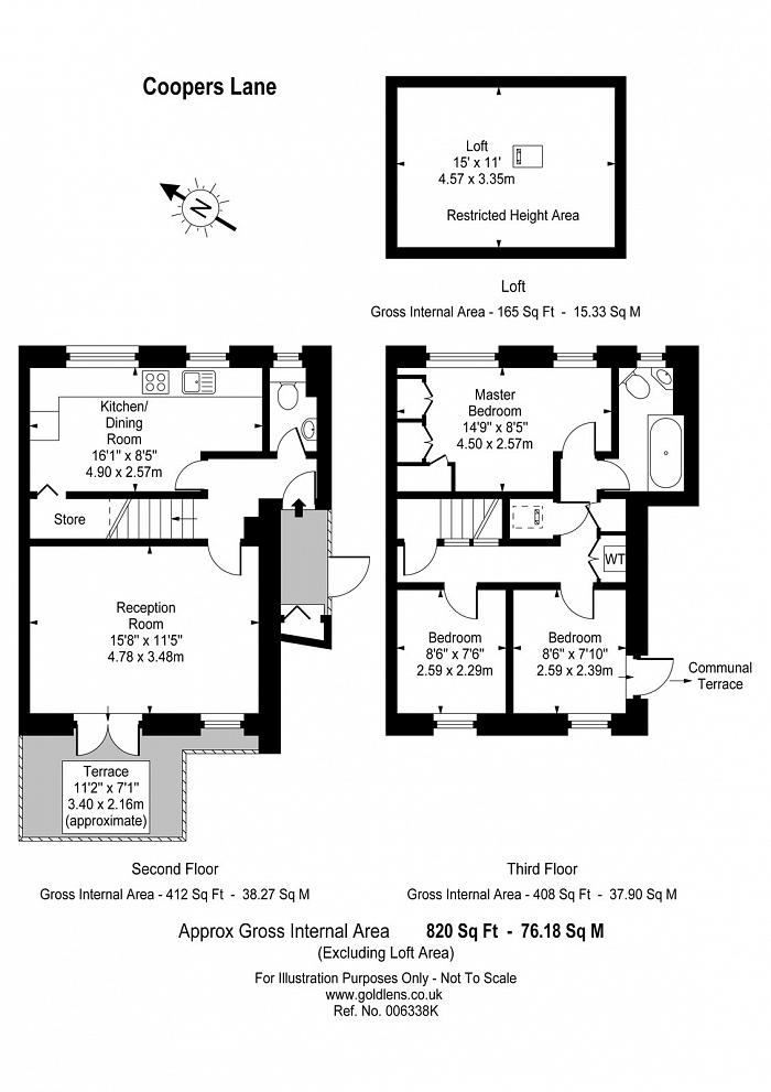 Coopers Lane, Kings Cross, NW1 Floorplan