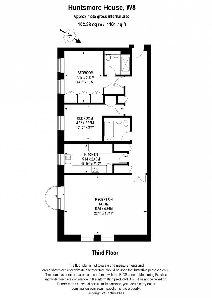 Huntsmore House, 35 Pembroke Road, W8 Floorplan