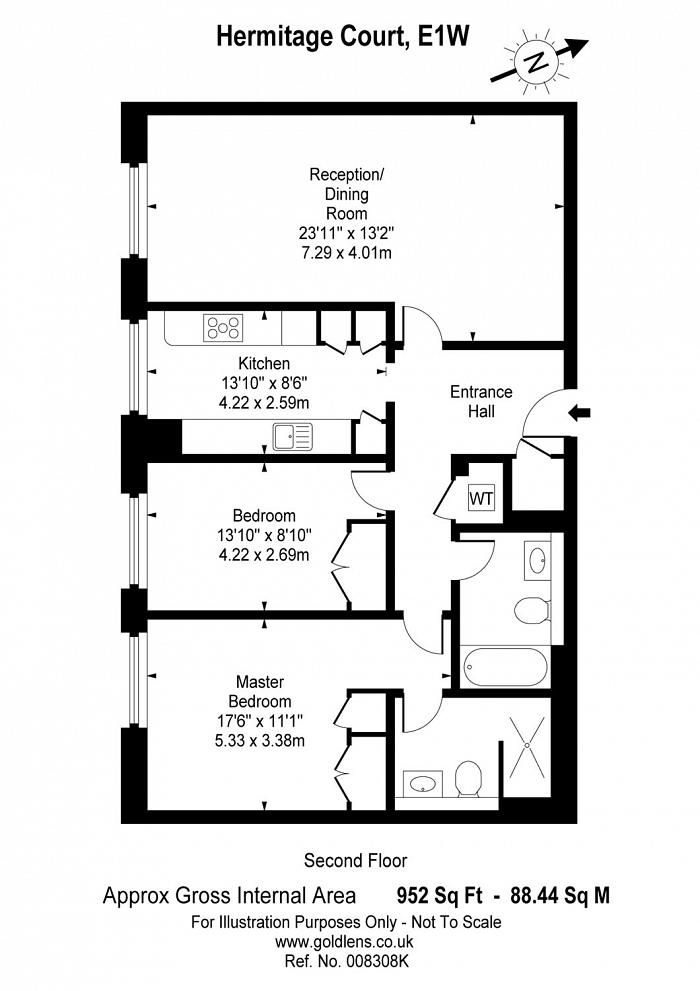 Hermitage Court, Knighten Street, E1W Floorplan