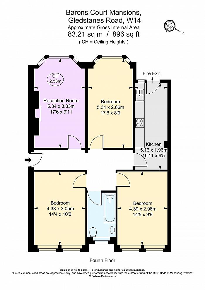 Barons Court Mansions, Gledstanes Road, W14 Floorplan