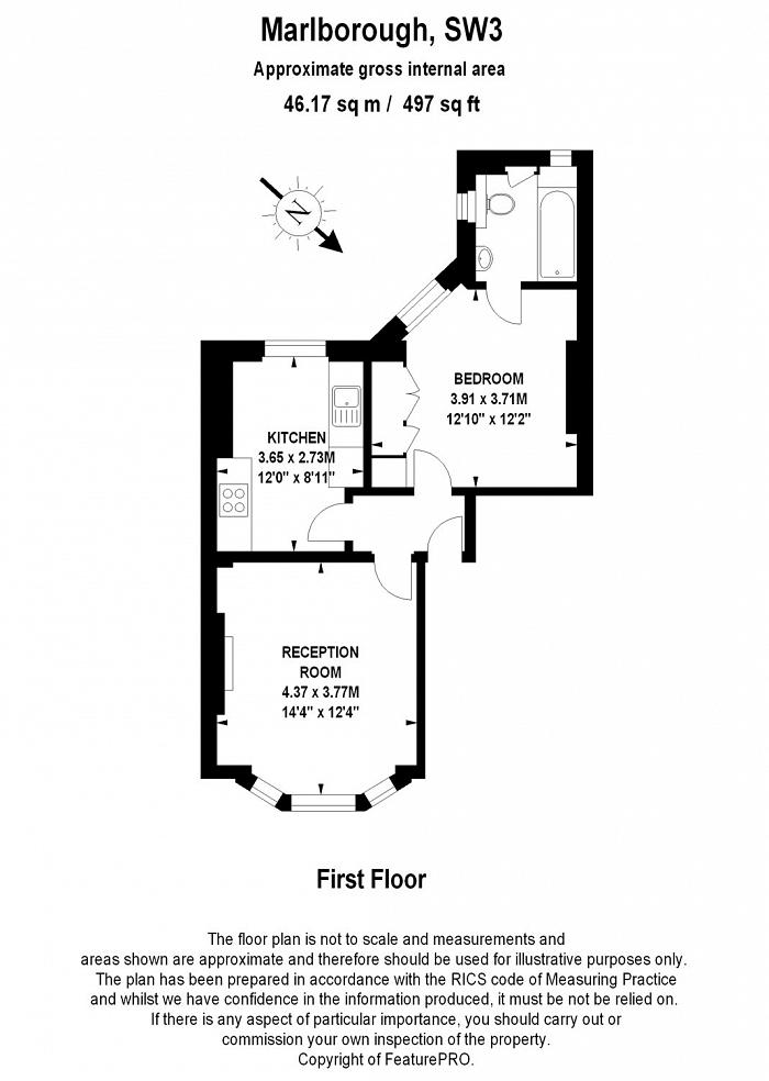 Marlborough, 61 Walton Street, SW3 Floorplan