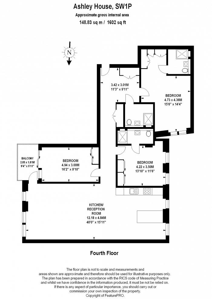 Ashley House, Monck Street, SW1P Floorplan