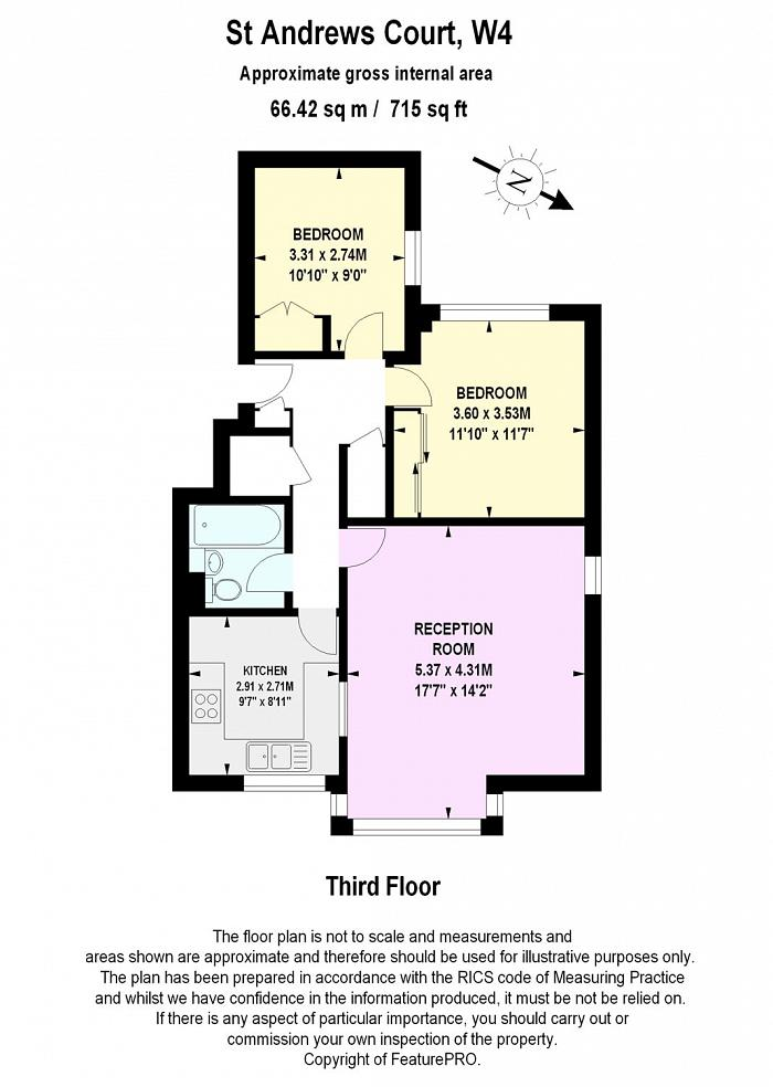 St. Andrews Court, 17 Bolton Road, W4 Floorplan