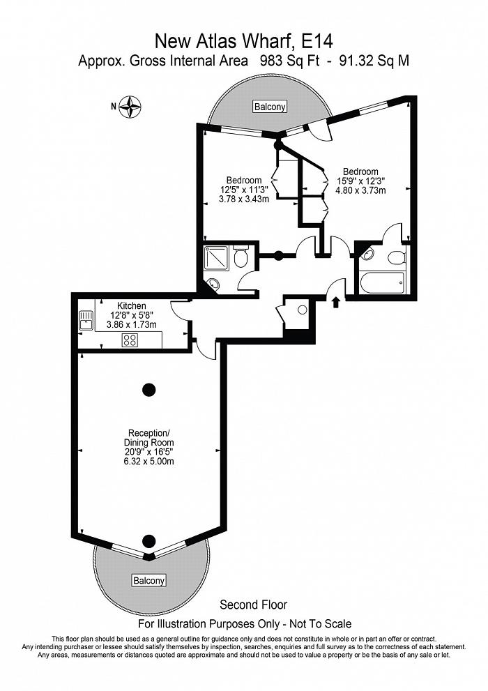New Atlas Wharf, 3 Arnhem Place, E14 Floorplan