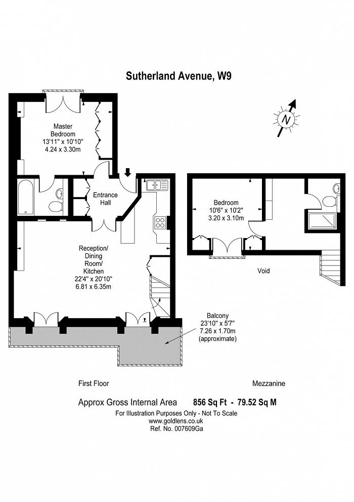 Sutherland Avenue, Little Venice, W9 Floorplan