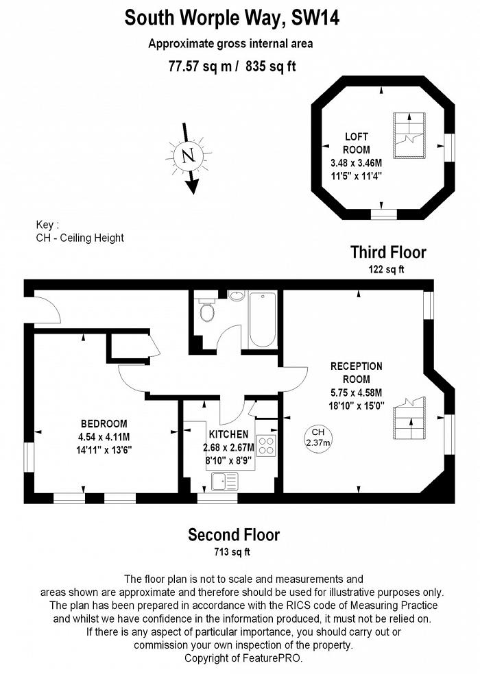 South Worple Way, Mortlake, SW14 Floorplan