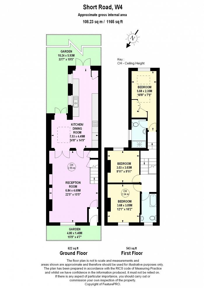 Short Road, Chiswick, W4 Floorplan