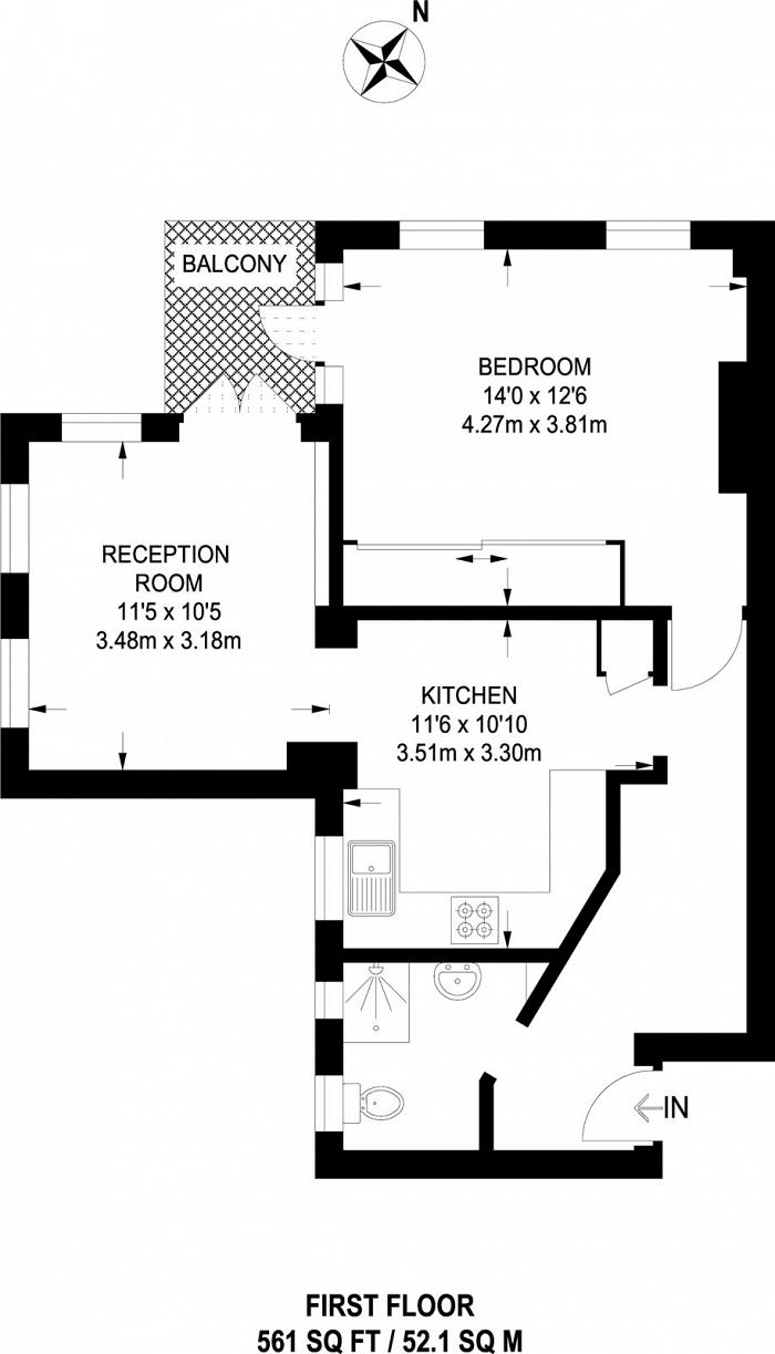 Kings Court South, Chelsea Manor Gardens, SW3 Floorplan