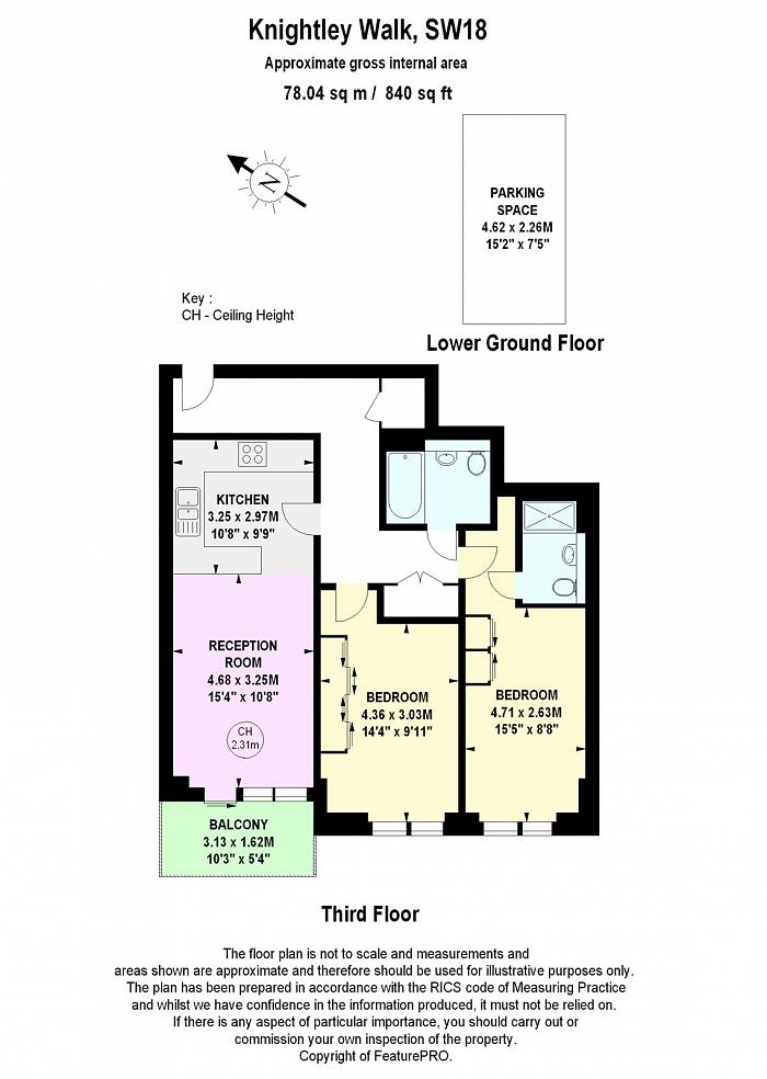 Apartment 17, 3 Knightley Walk, SW18 Floorplan