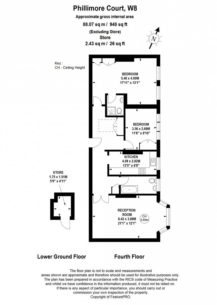 Phillimore Court, Kensington High Street, W8 Floorplan