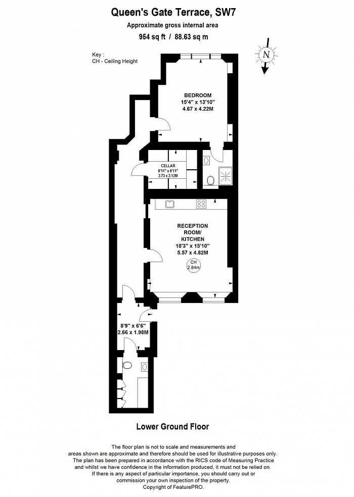 Queen's Gate Terrace, South Kensington, SW7 Floorplan