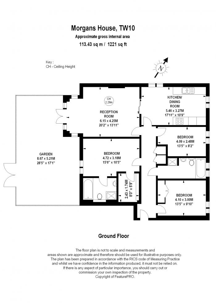 Morgans House, Ham Common, TW10 Floorplan