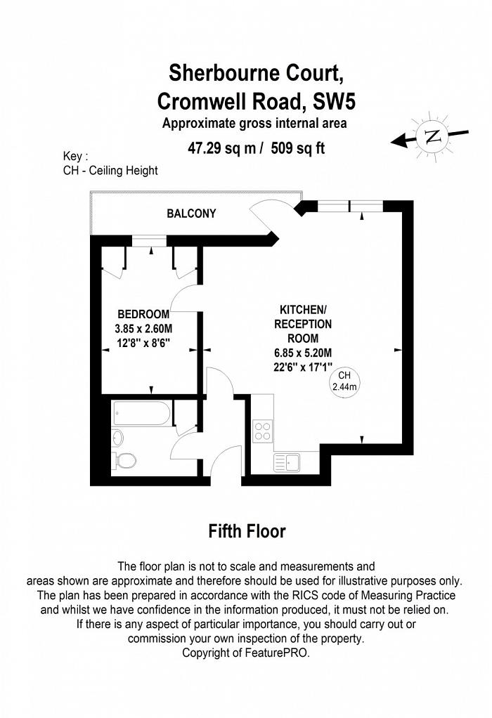 Cromwell Road, Earl's Court, SW5 Floorplan