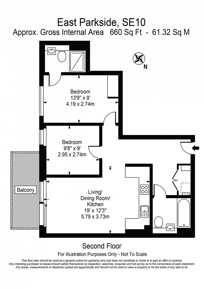 East Parkside, Greenwich, SE10 Floorplan