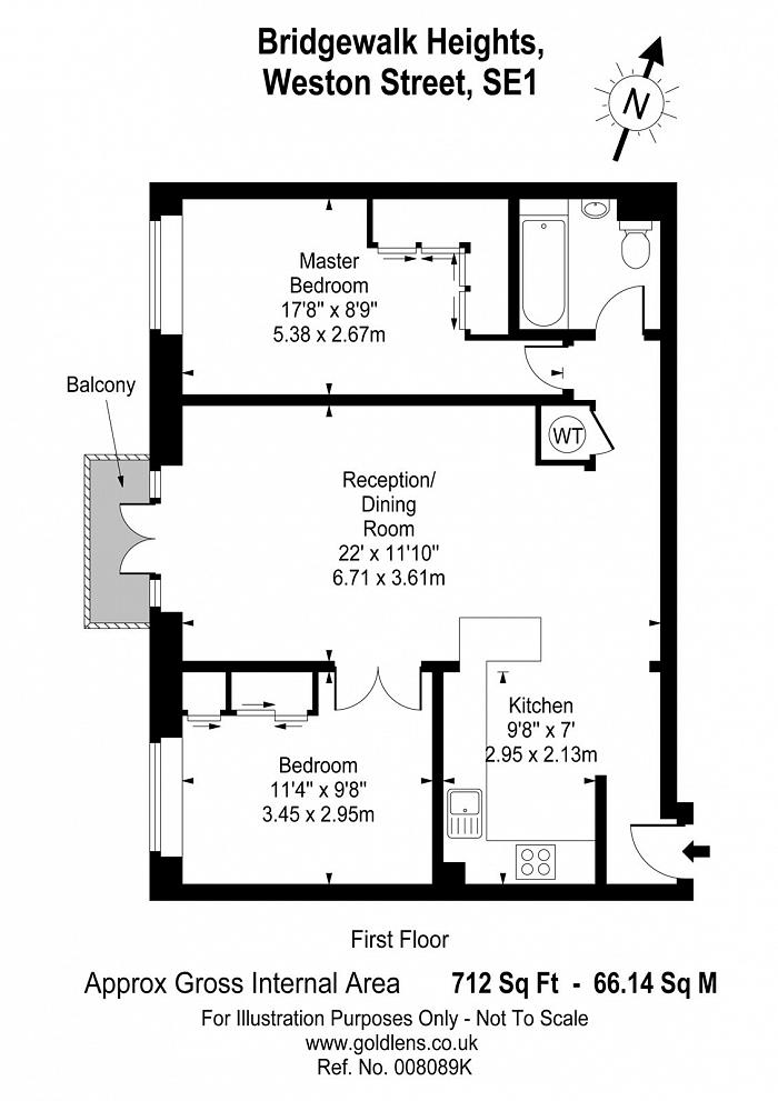 Bridgewalk Heights, 80 Weston Street, SE1 Floorplan
