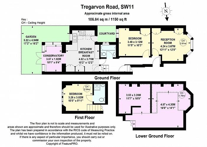 Tregarvon Road, Battersea, SW11 Floorplan