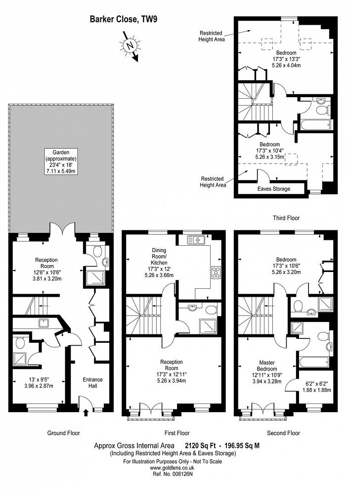 Barker Close, Kew, TW9 Floorplan