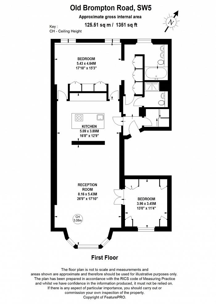 Old Brompton Road, South Kensington, SW5 Floorplan