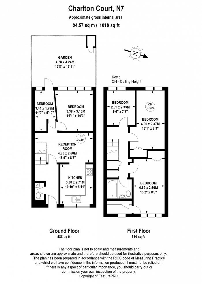 Charlton Court, 75  Brecknock Road, N7 Floorplan