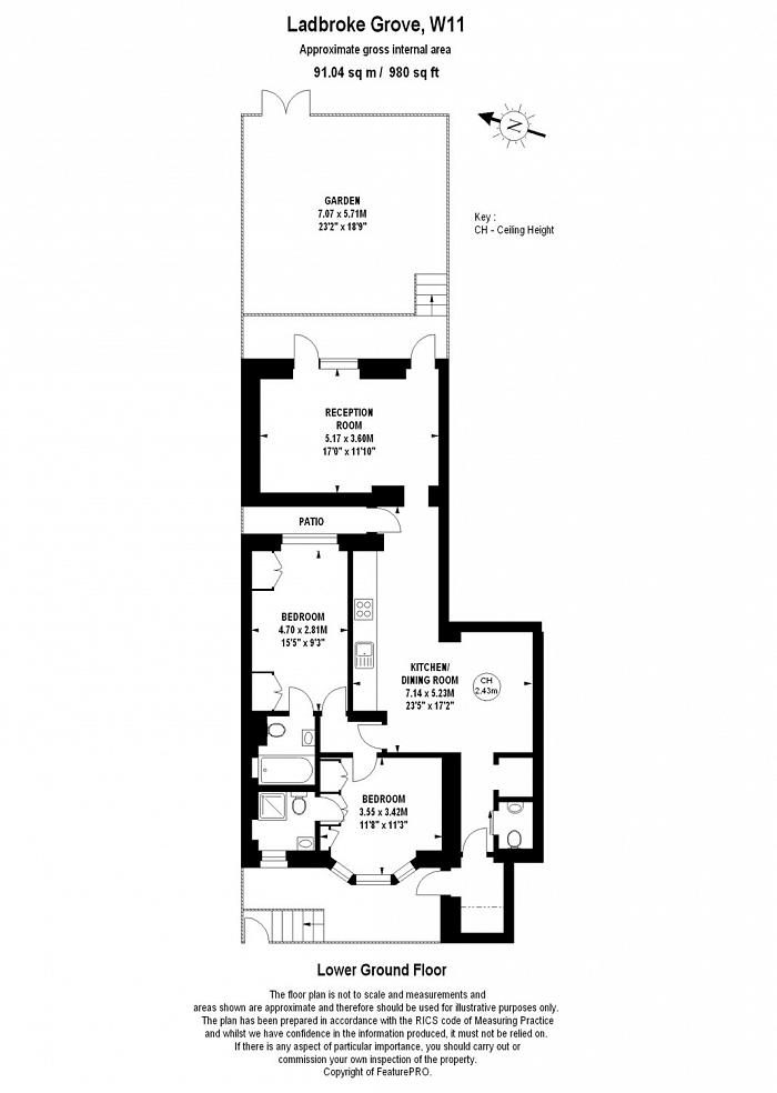 Ladbroke Grove, Notting Hill, W11 Floorplan