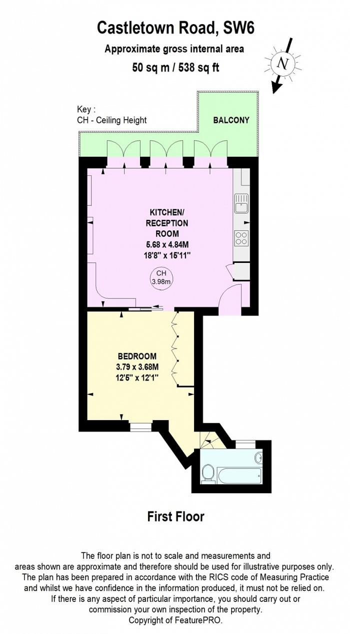 Castletown Road, Barons Court, W14 Floorplan